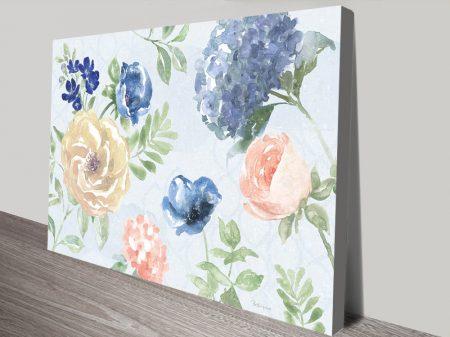 Coastline Botanical l Blue Summer Floral Art