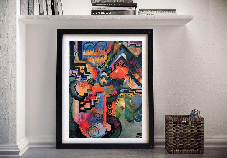 Coloured Composition August Macke Wall Art