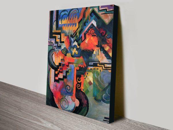 Hommage to Sebastian Bach Macke Art Print