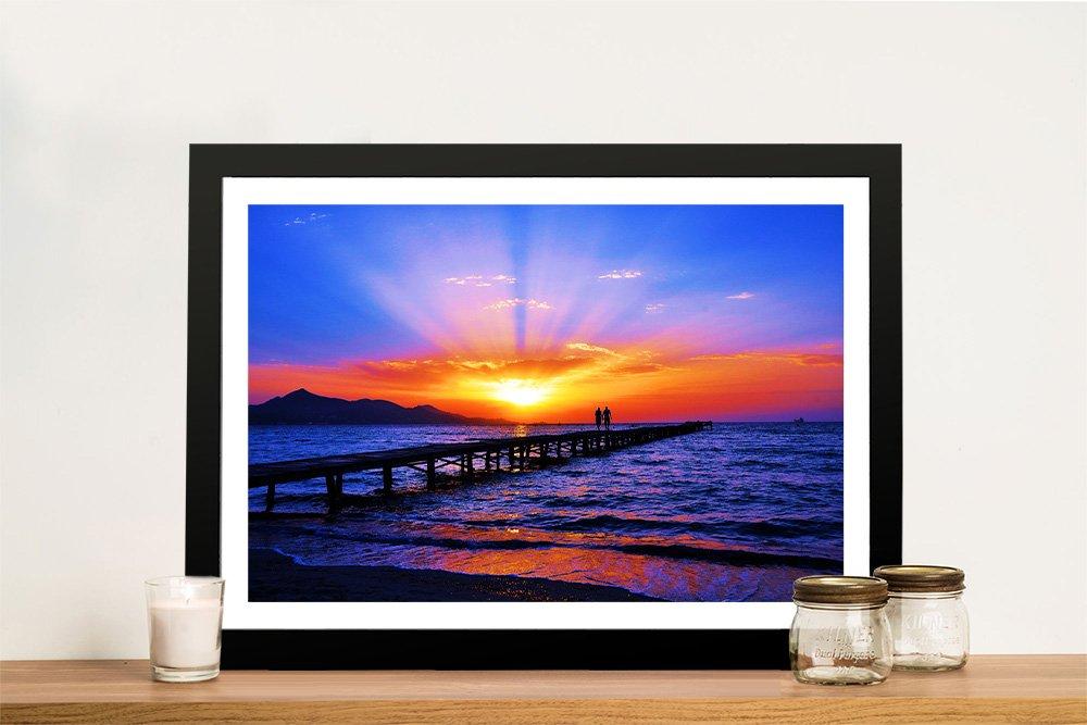 Dream Sunset Framed Print on Canvas