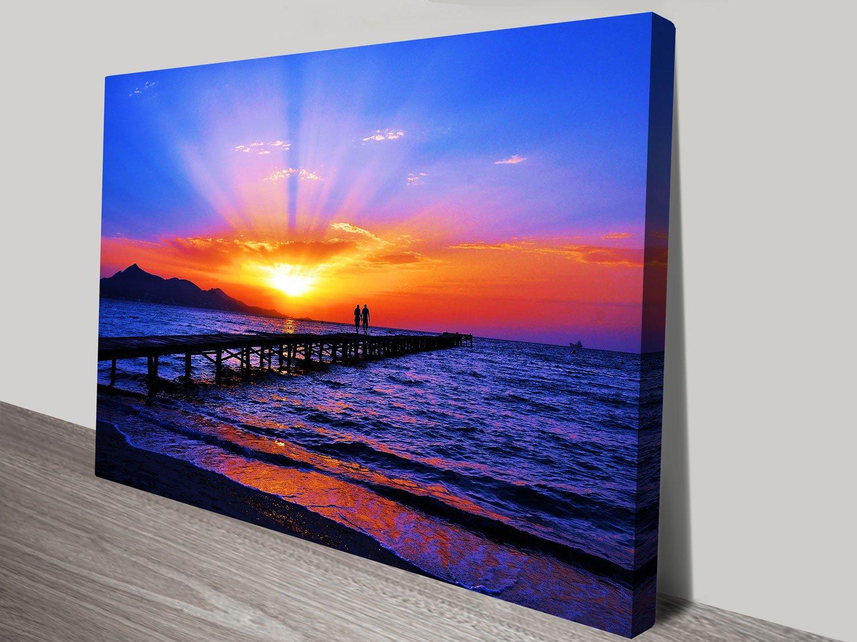 Dream Sunset Stretched Canvas Seascape AU