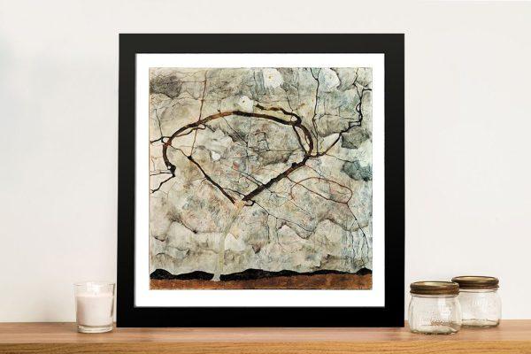 Winter Tree Egon Schiele Expressionism Art Print
