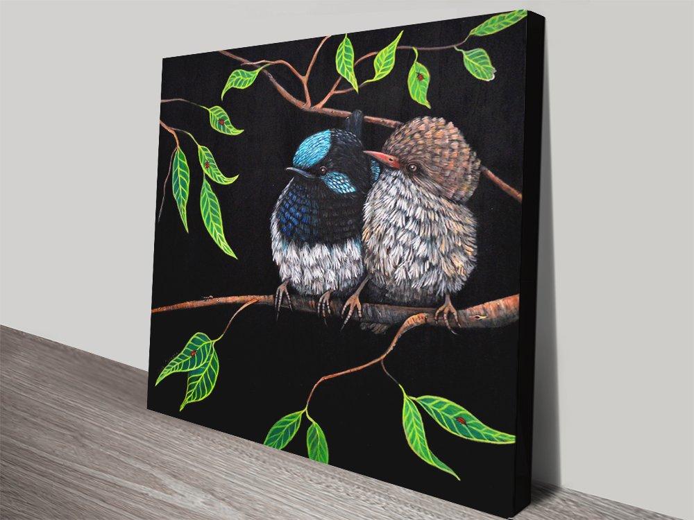 Fairy Wren Couple Pretty Australian Art