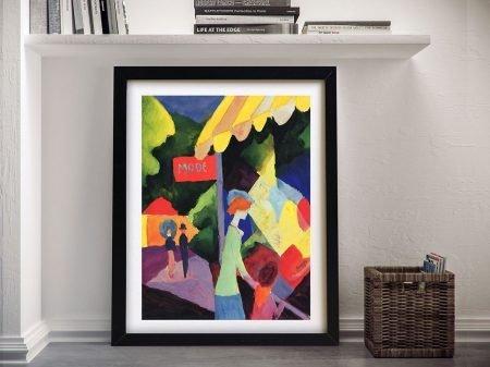 Fashion Window August Macke Canvas Print