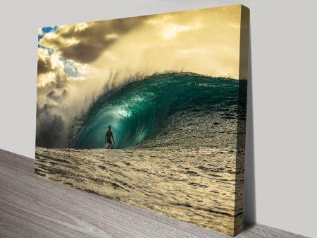 Ricardo Rafaski Pipeline Surf Art Print
