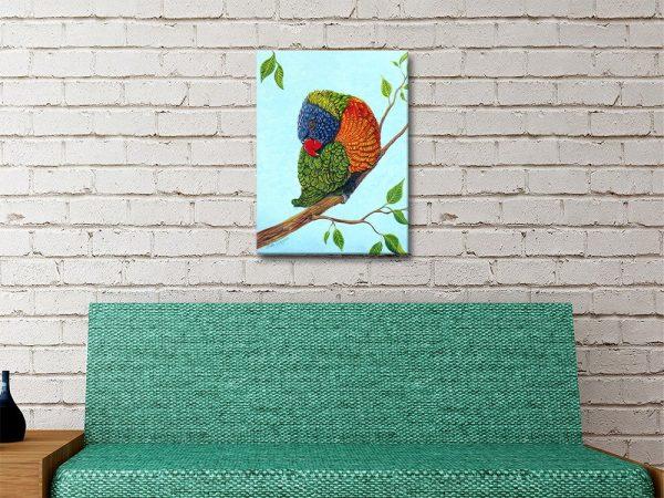 Rainbow Lorikeet Australian Art Gift Ideas Online