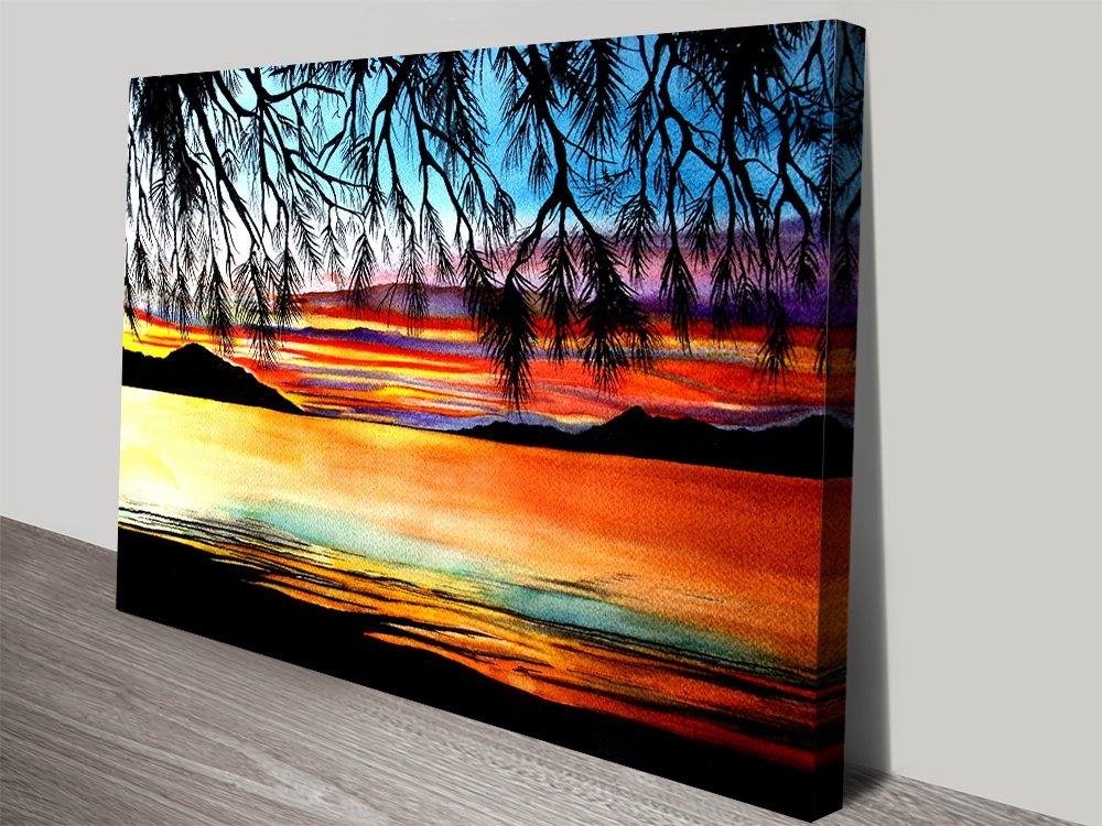 Sunset at the Whitsundays Canvas Print