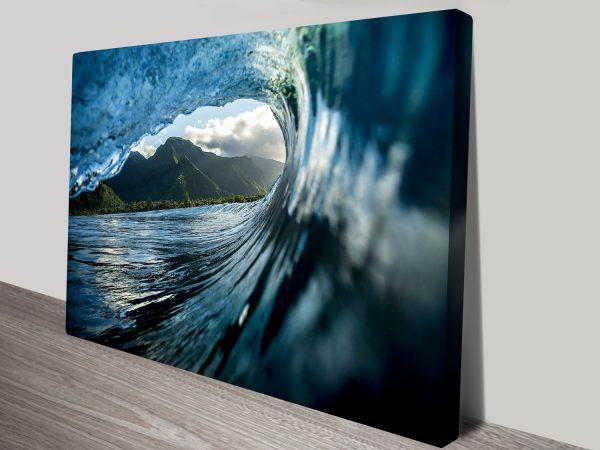 Teahupoo 3 Surf Waves Print on Canvas