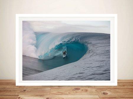 Teahupo'o Framed Surf Art Print on Canvas