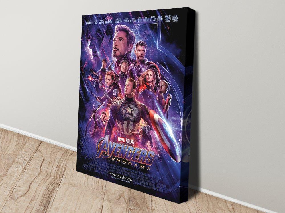 Avengers Endgame Movie Poster Canvas Art