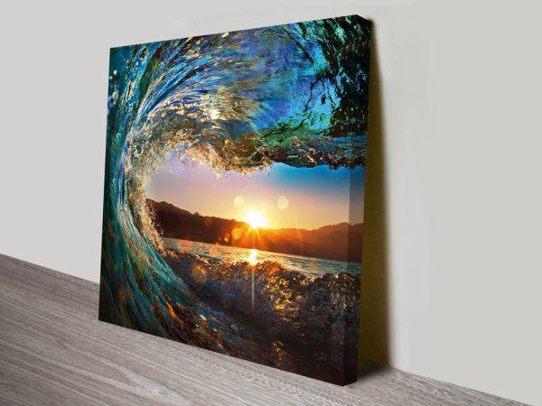 Crystalline Barrels Surfscape Wall Art