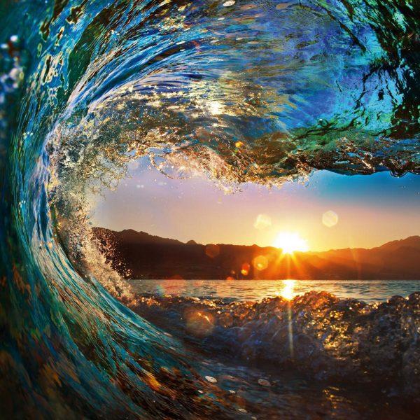 Crystalline Barrels Ready to Hang Surf Art AU