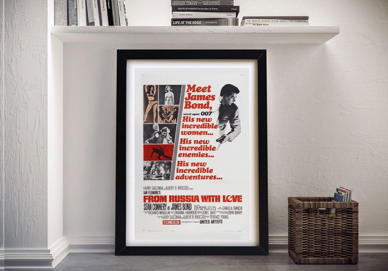 Framed Vintage James Bond Posters Cheap Online