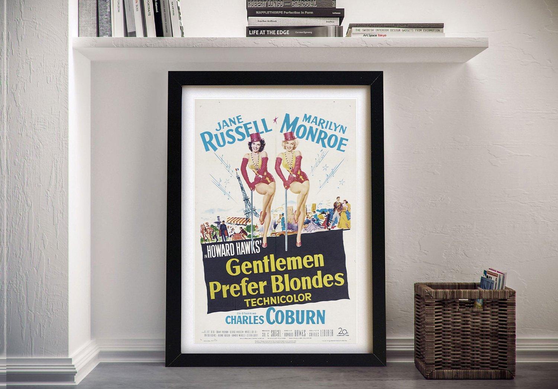 Gentlemen Prefer Blonds Framed Poster Print