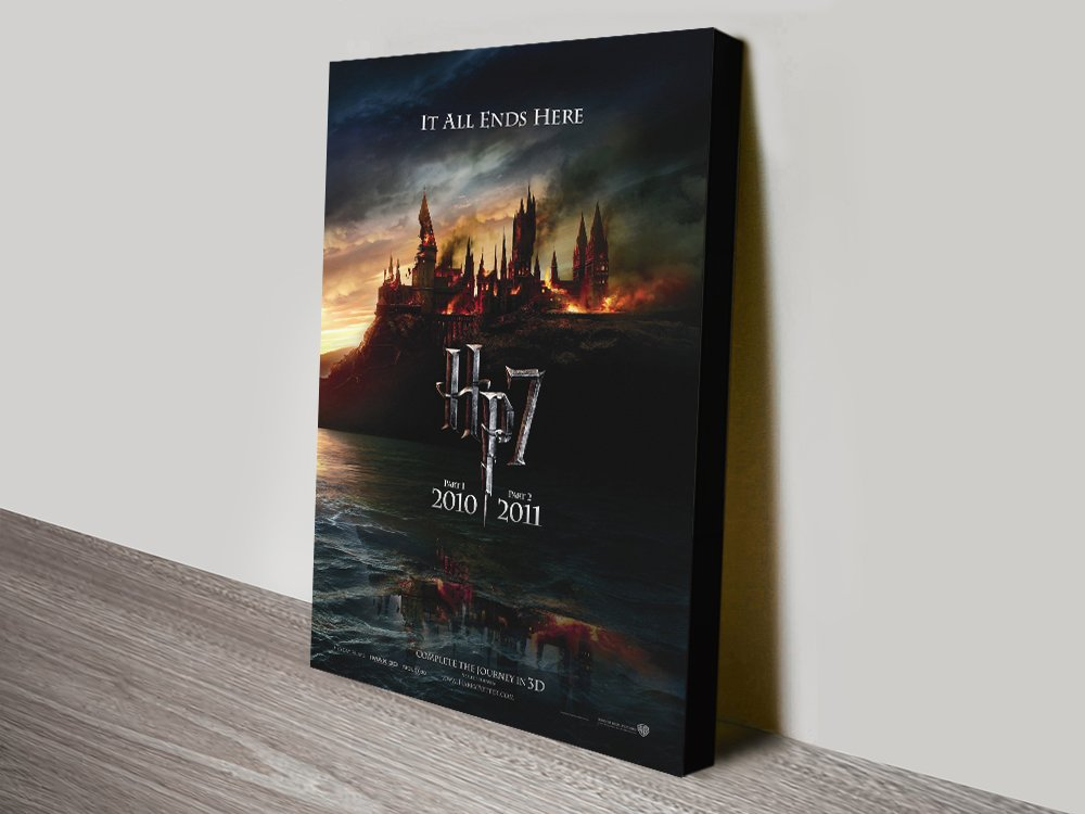 Deathly Hallows Movie Poster Canvas Art