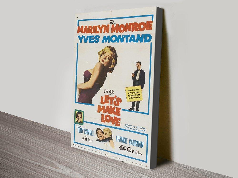 Let's Make Love Vintage Movie Poster