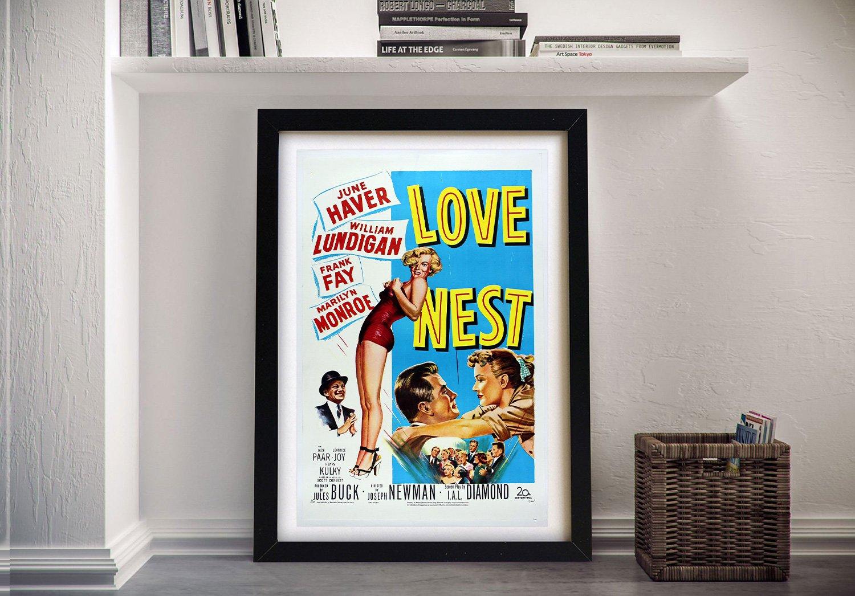Love Nest Framed Vintage Poster Print