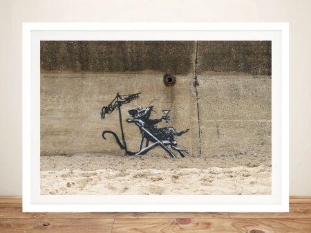 Rat in a Deck Chair Wall Art Print