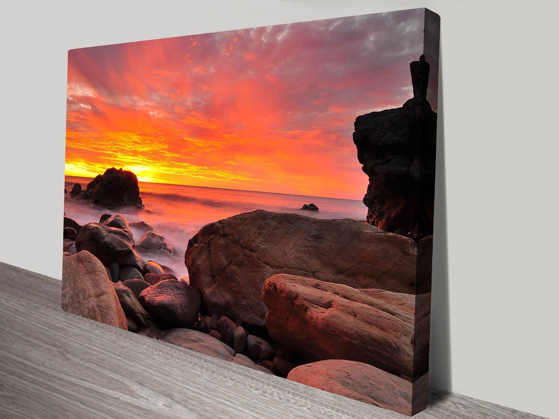 Shepards Delight Sunset Seascape on Canvas