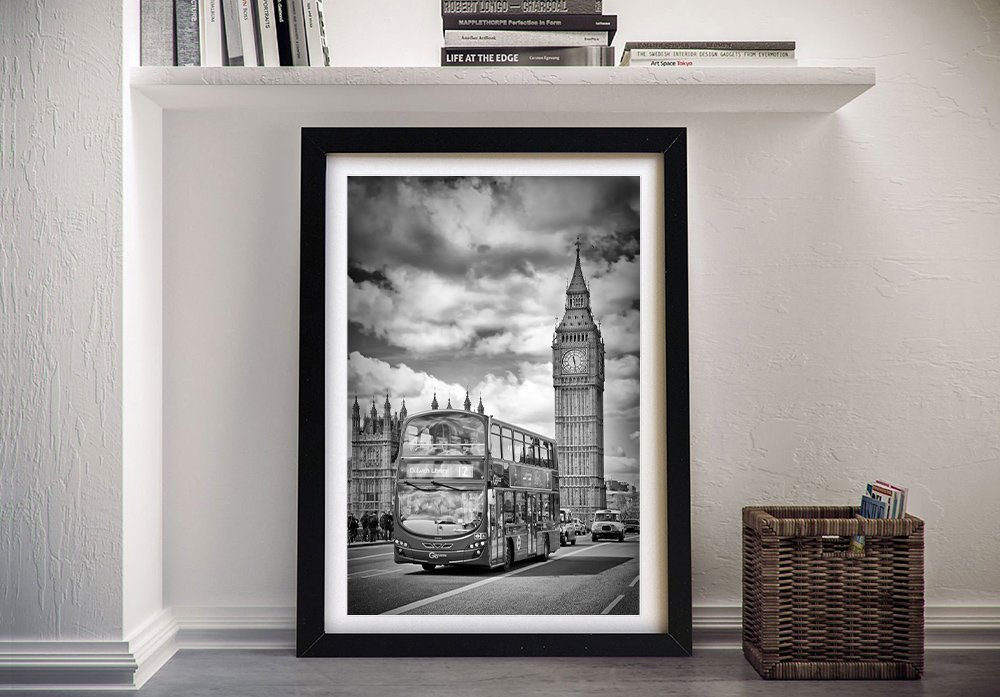 Houses of Parliament and Traffic Art on Canvas