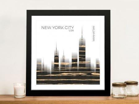 Urban Art NYC Skyline Digital Art Print