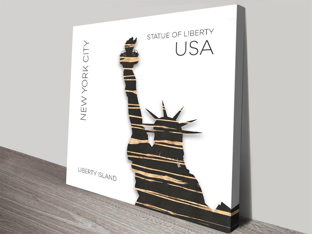 NYC Statue of Liberty Digial Art Print