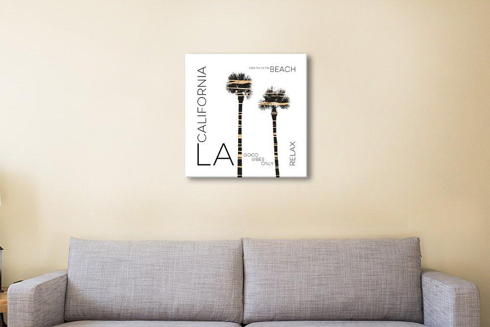 LA Palm Trees Premium Digital Art Print