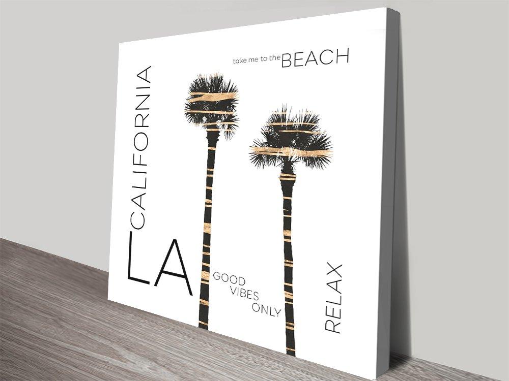 LA Palm Trees Canvas Art Gallery Sale Online
