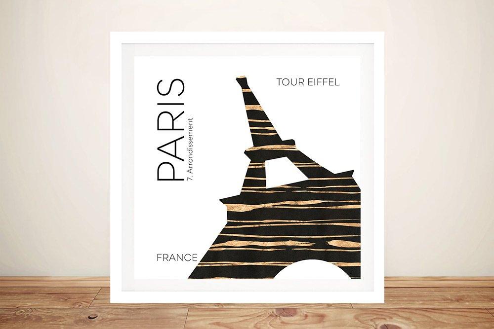 Paris Eiffel Tower Framed Digital Artwork