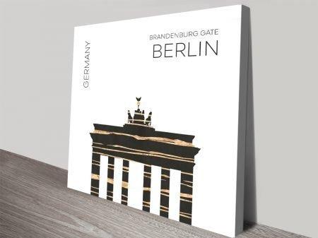 Brandenburg Gate Digital Urban Art Print