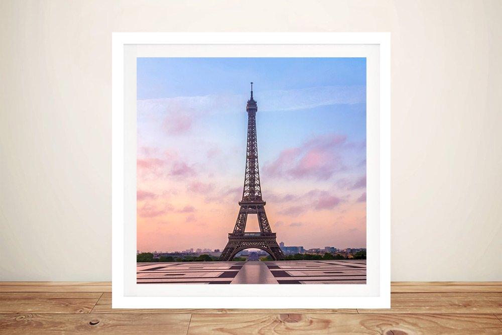 Buy a Framed Print of Eiffel Tower Sunrise