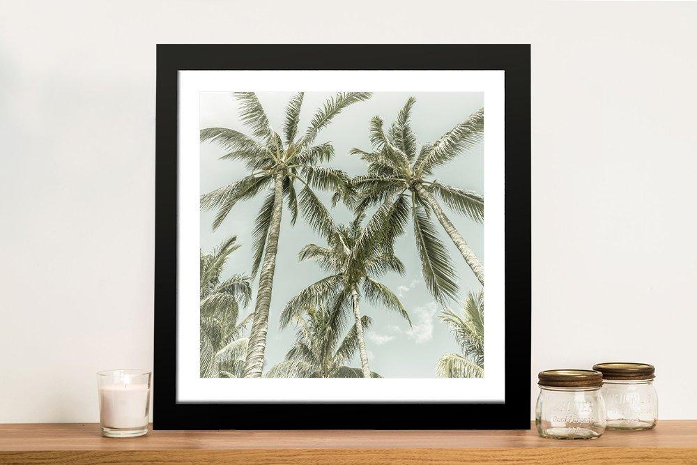 Framed Vintage Effect Palm Trees Art Online