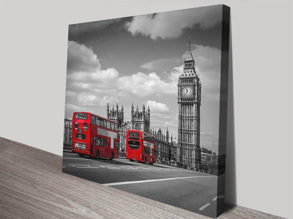 Typical London Shots of Colour Canvas Print