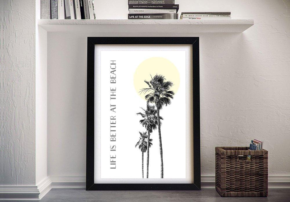 Framed Melanie Viola Palm Trees Digital Art