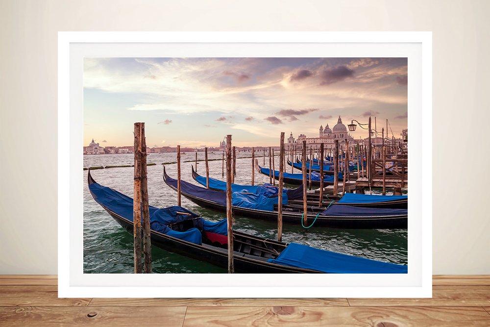 Gondolas & Santa Maria della Salute Framed Art