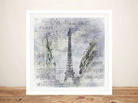 Paris Collage Eiffel Tower Street Scene Art Print
