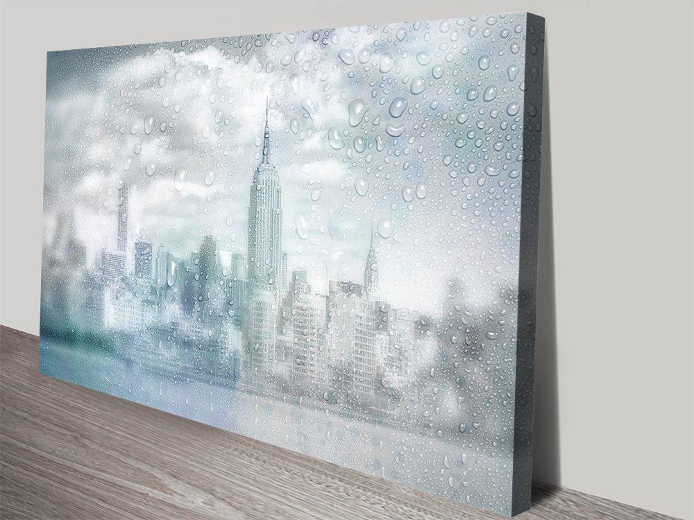 Midtown Manhattan Rainy Day Skyline Art
