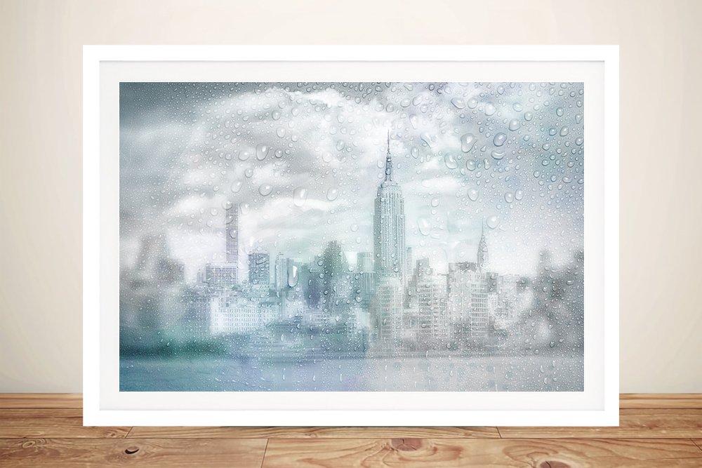 Midtown Manhattan Rainy Day Framed Art