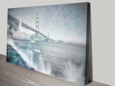 Golden Gate Bridge Rainy Day Canvas Print