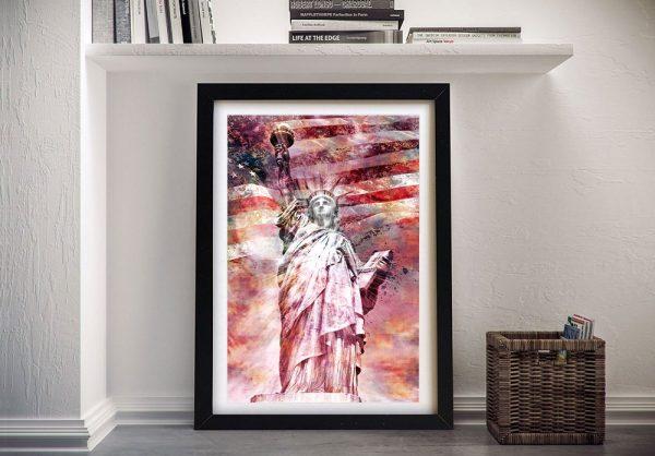 Statue of Liberty Digital Wall Art on Canvas