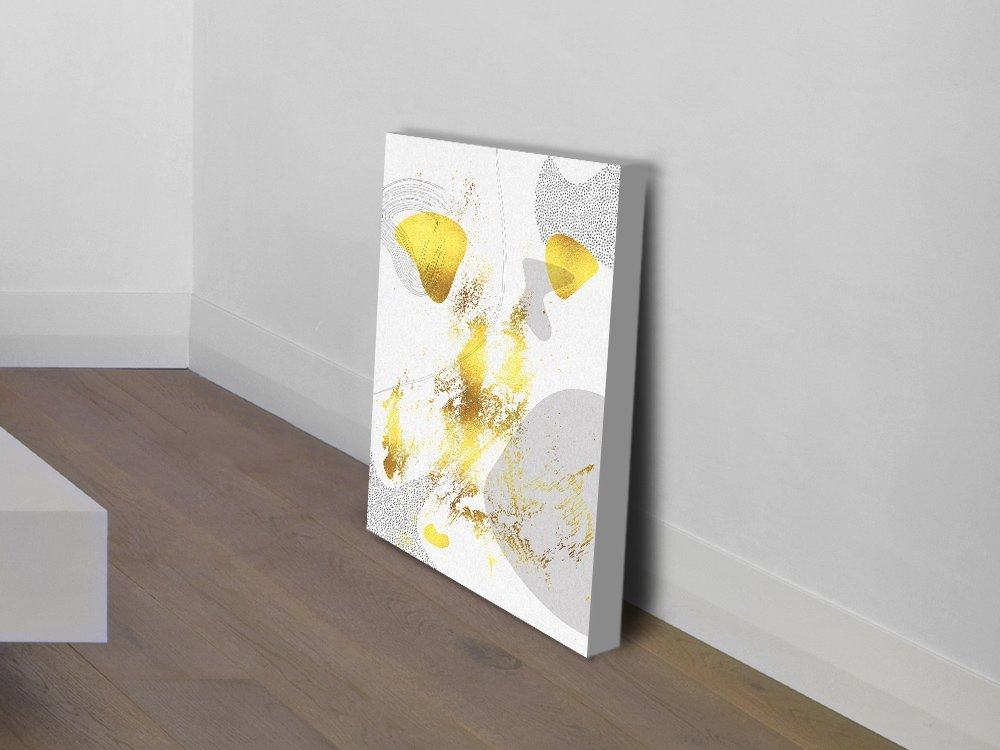 Mid-Century Vintage No.1 in Gold Wall Art