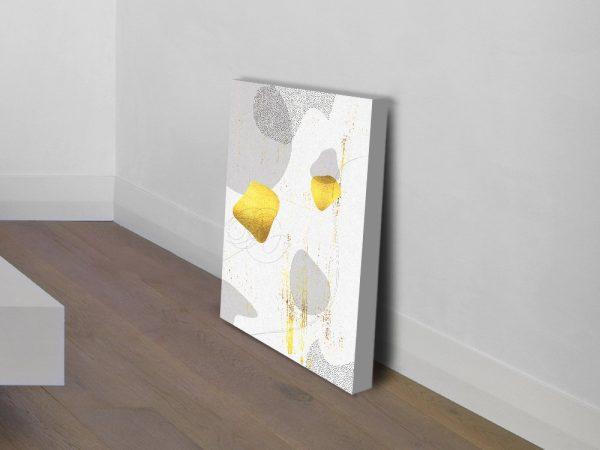 Gold & Grey Digital Art Print Home Decor AU