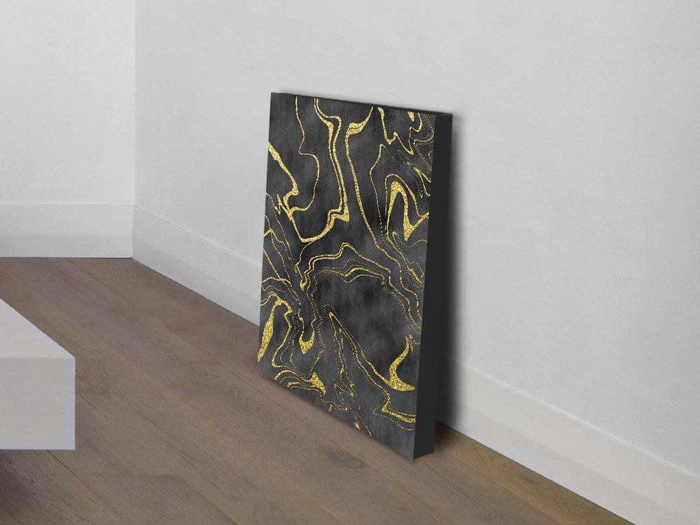 Golden Flows No.11 Abstract Wall Art