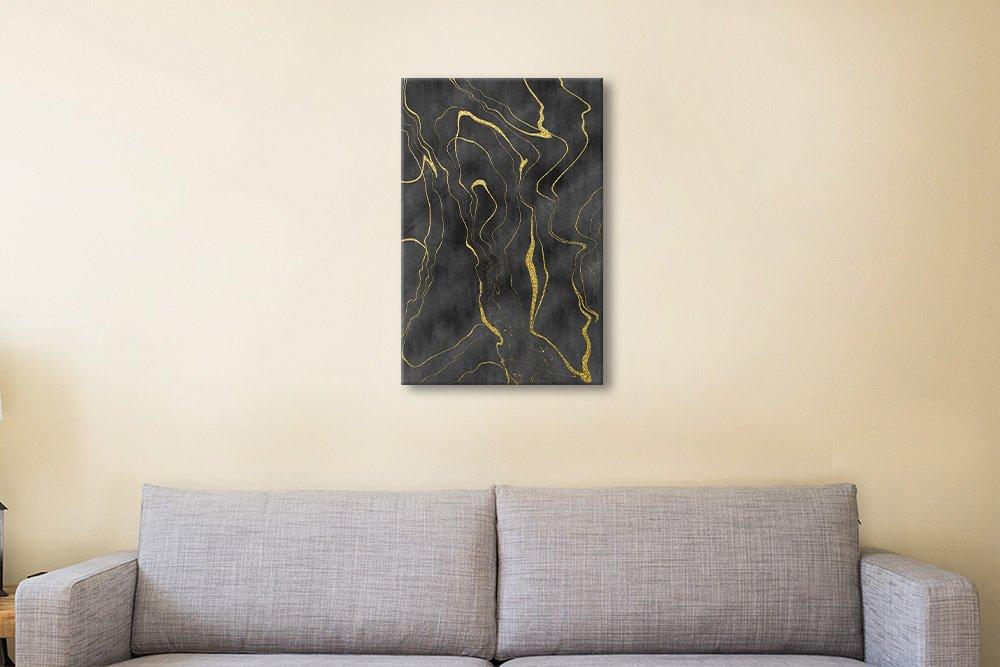 Gold Flow Digital Wall Art Home Decor Ideas