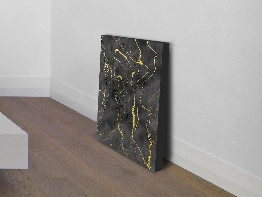 Stretched Canvas Gold Modern Art Cheap AU