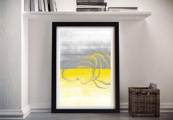 Illuminating Yellow & Ultimate Grey Framed Art