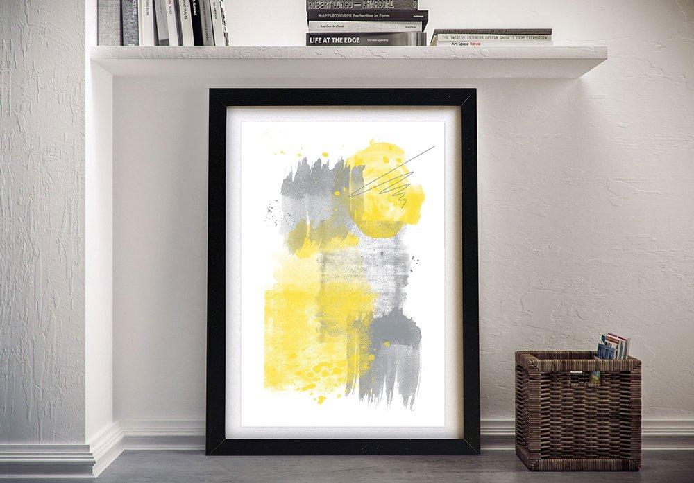 Framed Watercolour Shapes No. 6 Canvas Art