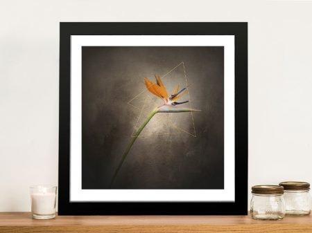 Strelitzia Graceful Flower Framed Wall Art