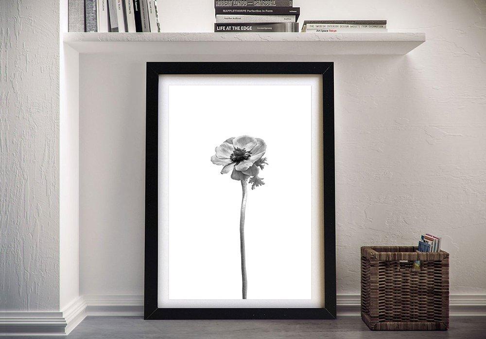 Buy a Framed Bright Anemone Canvas Print