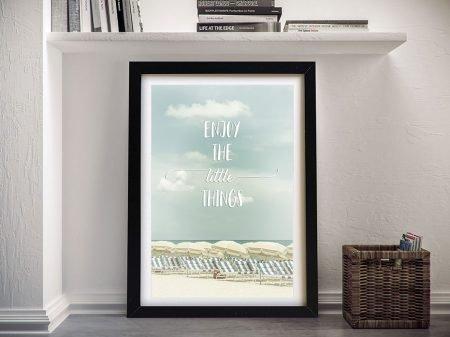 Enjoy the Little Things Framed Fun Artwork